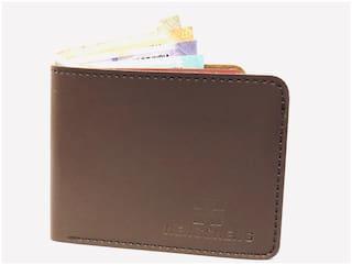 FASHLOOK Men Black Leather Solid Slim Money Clips Wallet