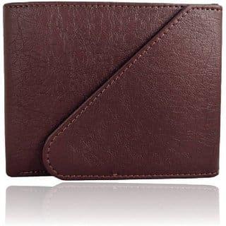 FASHLOOK Men Brown Leather Bi-Fold Wallet