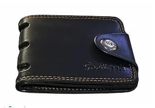 FASHLOOK Men Black Pu Bi-Fold Wallet ( Pack of 1 )