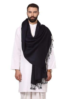 FASHLOOK Men Wool Shawl - Black