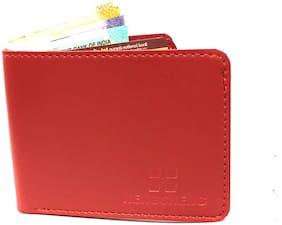 FASHLOOK Men Red Pu Bi-Fold Wallet ( Pack of 1 )