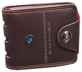 FASHLOOK Men Brown Pu Bi-Fold Wallet ( Pack of 1 )