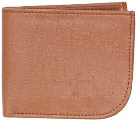FASHLOOK Men Tan Leather Money Clip Wallet ( Pack of 1 )