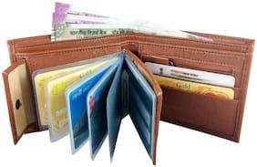 FASHLOOK Men Tan Pu Bi-Fold Wallet ( Pack of 1 )