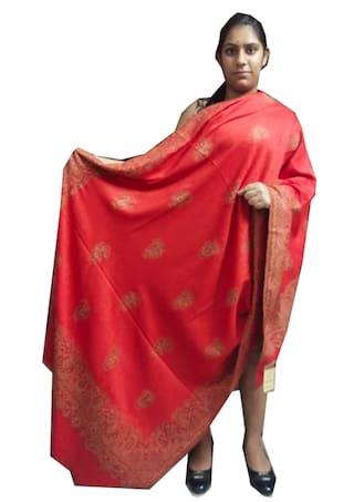 FASHLOOK Women Wool Floral - Red
