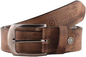 Fashno Men Grey  Casual Genuine  Leather Belt