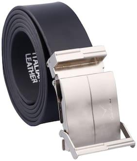 Fashno Mens Black Adjustable design Belt(Length - 121.92 cm (48 inch))