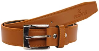 Fashno Mens PU Leather Belt Tan
