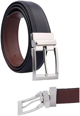 Fashno Women Leather Belt - Black