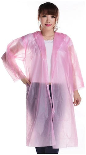 Fast Delight Disposable Raincoat Adult Travel Thickened Transparent Foreign Trade Connected Button Raining Jackets for Adults Kids Raincoat