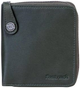 Fastrack Men Green Genuine Leather Wallet  (2 Card Slots)