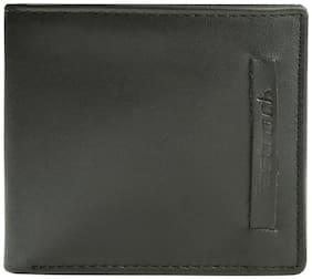 Fastrack Men Black Genuine Leather Wallet  (4 Card Slots)