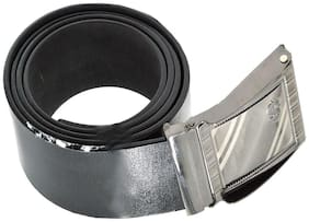 Faynci Stylish Dollar Fashion Design Black Leather Belt for Boys and Mens Casual & Formal