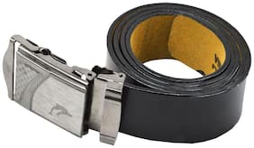 Faynci Stylish Dolphin Fashion Design Black Leather Belt for Boys and Mens Casual & Formal