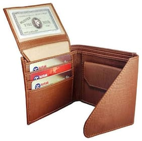 Fill Cryppies Tan Men's Causal Artificial Leather Wallet (FC-MW-002)