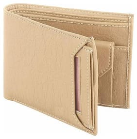Fill Cryppies Beige Men's PU Leather Wallet (FC-MW-043)