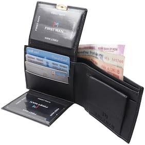 First Man Black Smart Two Side holder Men Fashion Wallet