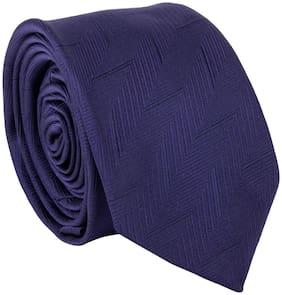 Fleverel Men's Blue Micropolyester Woven Slim Fit Neck Tie ( Free Size )