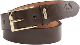 Flyer Men Brown Leather Belt (Size: 40 , Pack of 1 )