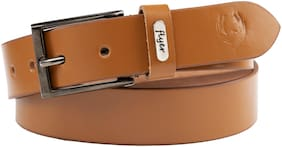 Flyer Men Tan Leather Belt (Size: 38 , Pack of 1 )