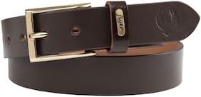 Flyer Men Brown Leather Belt (Size: 36 , Pack of 1 )