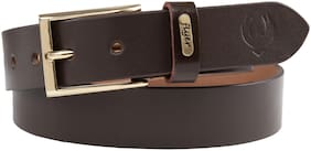 Flyer Men Brown Leather Belt (Size: 34 , Pack of 1 )