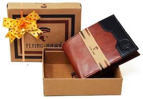 FLYING HAWK  Men Tan Artificial Leather Wallet