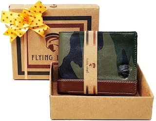 FLYING HAWK  Men Brown Military Artificial Leather Wallet