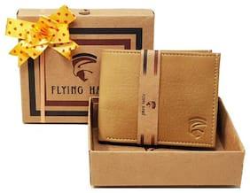FLYING HAWK  Men Beige  Artificial Leather Wallet