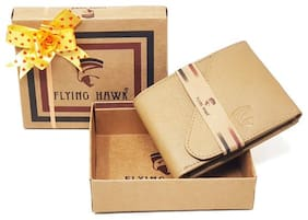FLYING HAWK  Men Beige  Artificial Leather Wallet