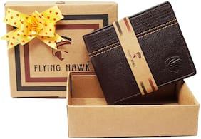 FLYING HAWK Men Casual Genuine Leather Wallet