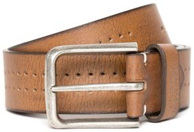 Flying Machine Brown Perforated Leather Belt