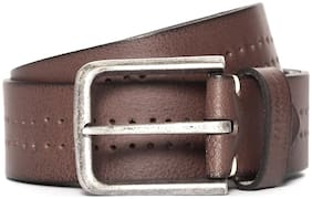 Flying Machine Perforated Leather Belt for men