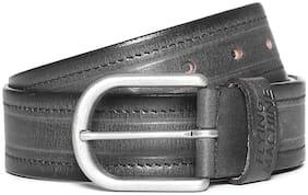Flying Machine Men Black Leather Belt (Size: 38 , Pack of 1 )