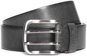 Flying Machine Black Distressed Leather Belt