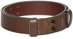 Flying Machine Men Brown Leather Belt (Size: 38 , Pack of 1 )