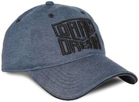 Flying Machine Blue Polyester Embroidered Panelled Cap