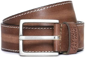 Flying Machine Brown Distressed Leather Belt