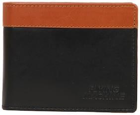 Flying Machine Men Black Leather Bi-Fold Wallet ( Pack of 1 )