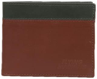 Flying Machine Men Brown Leather Bi-Fold Wallet ( Pack of 1 )
