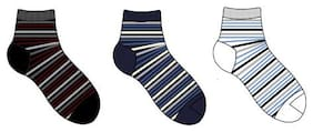 Footies Assorted Cotton Ankle length socks ( Pack of 3 )