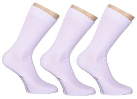FootPrints Organic Cotton and Bamboo Men's Formal Socks Pack of 3- White
