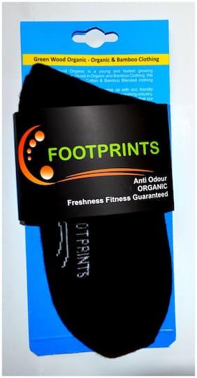 Footprints Organic Black Cotton Ankle length socks ( Pack of 1 )