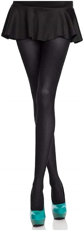 FOXSTON Stockings for Girls and Women Stockings Thigh-Highs Stockings Pack of 1 Black