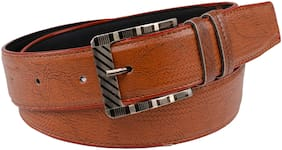Winsome Deal Men Brown Leather Belt (Size: 32 , Pack of 1 )