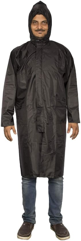 Frozen Polyester Complete Raincoat With Pent And Carry Bag