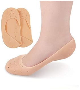 Full Length Silicon Foot Protector Moisturizing Socks For Foot Care And Heel Cracks (Free Size) (1 Pair) (FULL HEEL)