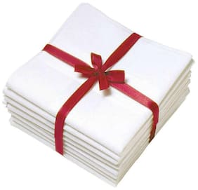 Full  Size Gents Handkerchief White Color (Pack of 12)