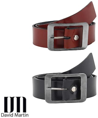 David Martin Black And Brown Combo Of 2 Belts