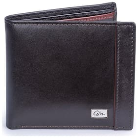 Gentleman Genuine Leather Stylish Wallet for Men Brown With Credit/Debit Card Case